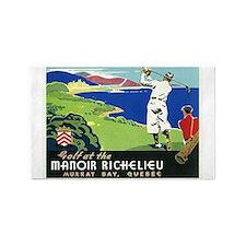 Golf, Quebec, Vintage Poster 3'x5' Area Rug