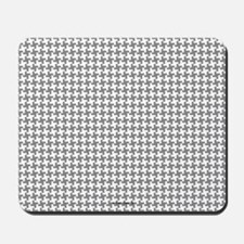 Grey Retro Houndstooth Mousepad