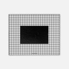 Grey Retro Houndstooth Picture Frame