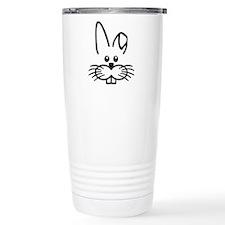 Bunny rabbit face Travel Coffee Mug