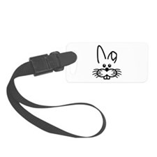 Bunny rabbit face Luggage Tag