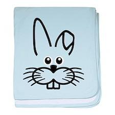 Bunny rabbit face baby blanket