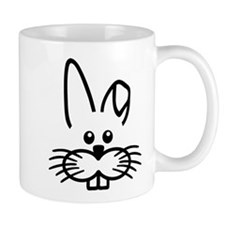Bunny rabbit face Mug