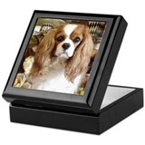 King charles cavalier Square Keepsake Boxes