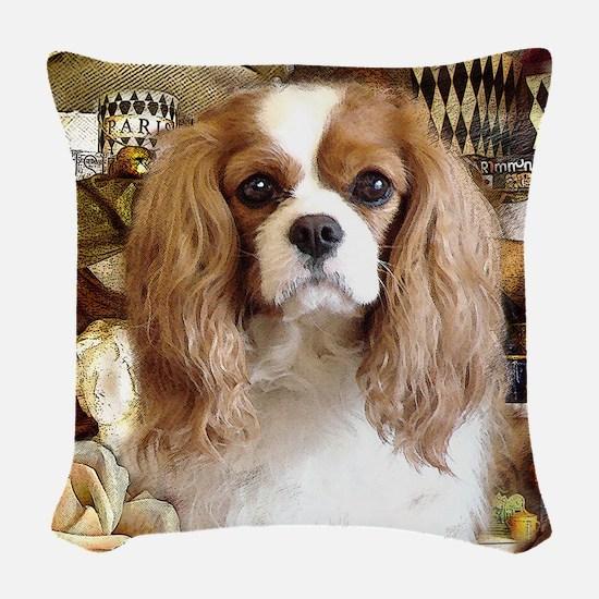 Cavalier King Charles Spaniel Woven Throw Pillow