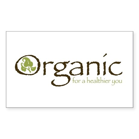 Organic for a healthier you Rectangle Sticker