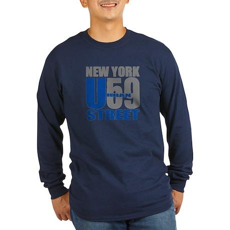 NYC Urban59 Street Logo Shirt Long Sleeve Dark T-S