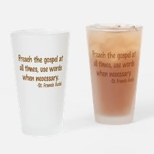 PreachTheGospelWordsBrownText1.png Drinking Glass