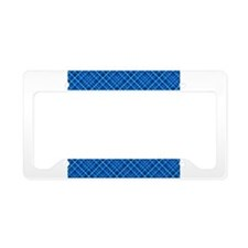 Blue Tartan License Plate Holder