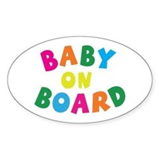 Baby On Board Oval Stickers