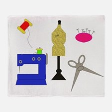 Sewing Tools Throw Blanket