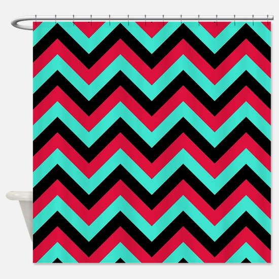 red and turquoise shower curtain. Turquoise and Crimson 4 Shower Curtain Black Red And Curtains  CafePress