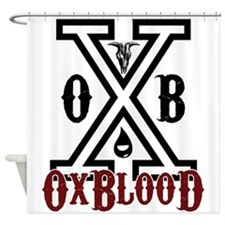 "OxBlooD Society ""X"" Shower Curtain"