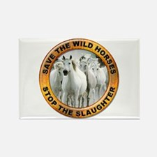 Save Wild Horses Rectangle Magnet