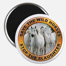 Save Wild Horses Magnet
