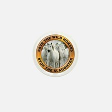 Save Wild Horses Mini Button