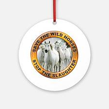 Save Wild Horses Ornament (Round)
