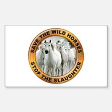 Save Wild Horses Rectangle Decal