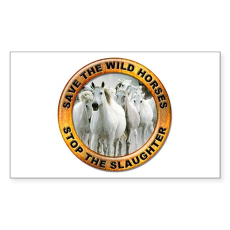Save Wild Horses Rectangle Sticker