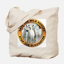 Save Wild Horses Tote Bag