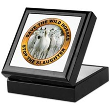 Save Wild Horses Keepsake Box