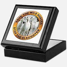 Save Wild Horses Keepsake Box