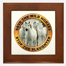 Save Wild Horses Framed Tile
