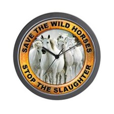 Save Wild Horses Wall Clock