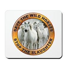 Save Wild Horses Mousepad