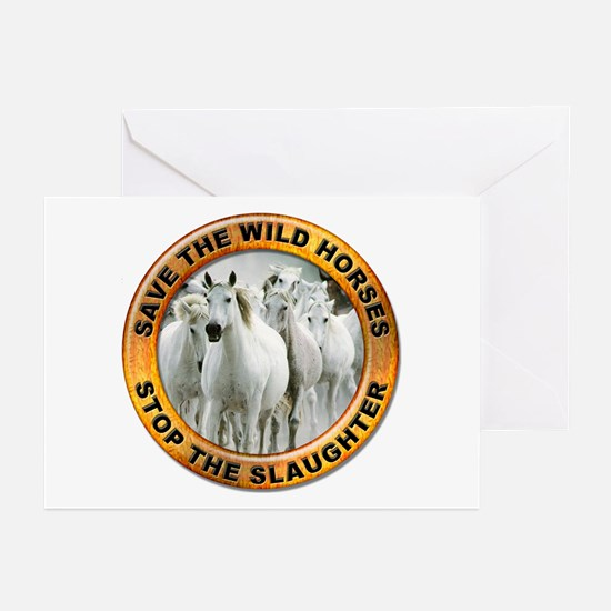 Save Wild Horses Greeting Cards (Pk of 10)