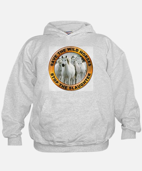 Save Wild Horses (Front) Hoodie