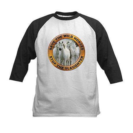 Save Wild Horses Kids Baseball Jersey