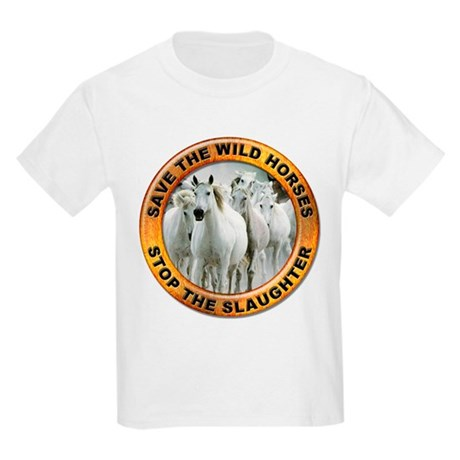 Save Wild Horses Kids T-Shirt