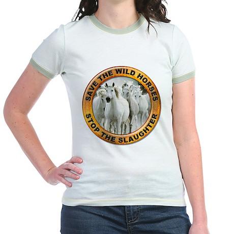 Save Wild Horses Jr. Ringer T-Shirt
