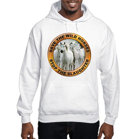 Save Wild Horses (Front) Hooded Sweatshirt