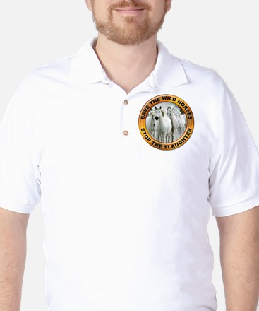 Save Wild Horses Golf Shirt