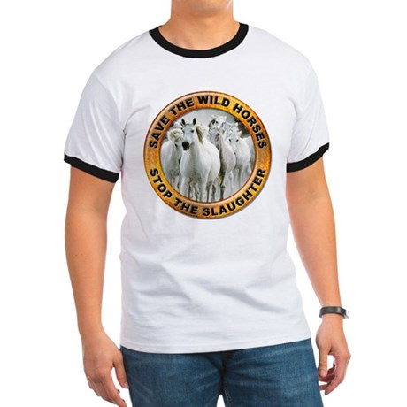Save Wild Horses (Front) Ringer T