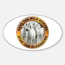 Save Wild Horses Oval Decal
