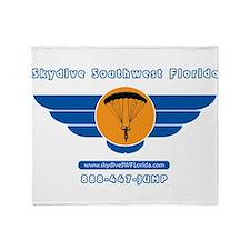 SKSWFL Back Logo Throw Blanket