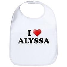 I LOVE ALYSSA SHIRT T-SHIRT A Bib