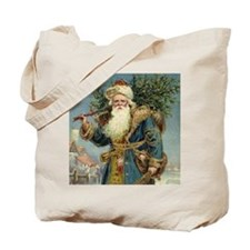 Vintage Christmas Santa Claus Tote Bag