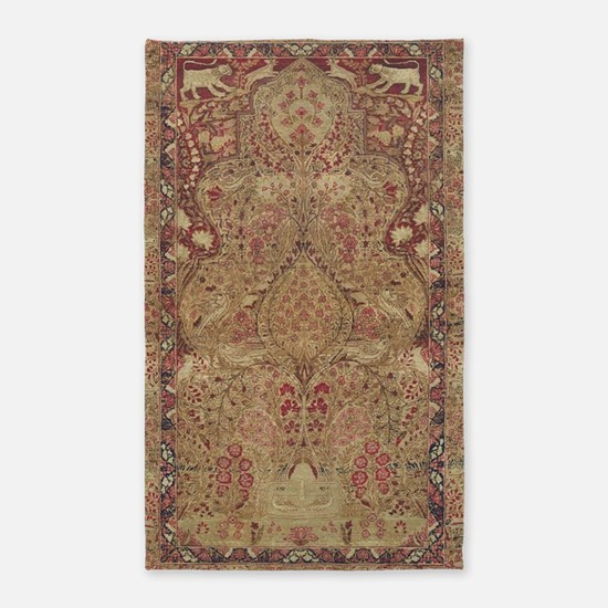 Red Vintage Antique Floral Persian Area Rug