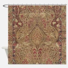 Red Vintage Antique Floral Persian Shower Curtain