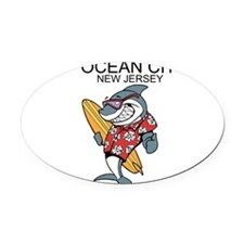 Ocean City, New Jersey Oval Car Magnet