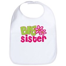 Big Sister Green Dot Bib