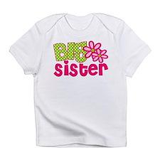 Big Sister Green Dot Infant T-Shirt