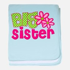 Big Sister Green Dot baby blanket