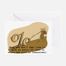 10% Percent Greeting Card