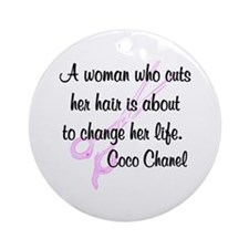 HAIR STYLIST QUOTE Ornament (Round)