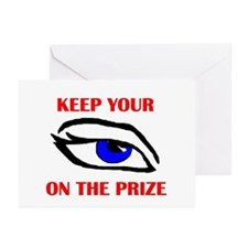 EYE ON THE PRIZE Greeting Cards (Pk of 10)